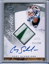 08/09 UD THE CUP CORY SCHNEIDER ROOKIE PATCH AUTO RC /249 VANCOUVER CANUCKS RPA