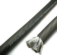 5 Foot Cut of Stinger HPM 0 Gauge 1/0 Matte Grey Pure Copper Power Wire SHW10G