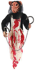 HALLOWEEN HANGING MEAT HOOKS PIG BUTCHER 3 FT CEMETARY GRAVEYARD DECORATION PROP