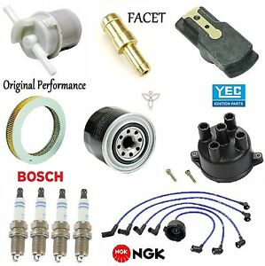 Tune Up Kit Filters Cap Rotor Plugs Wire for Honda Civic DX;1.3L; 1.5L 1985-1987