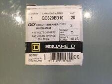 SQUARE D QO320ED10 20A TP TYPE D MCB SCHNEIDER