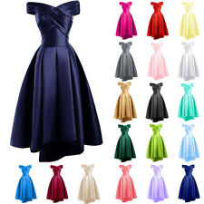 Stock Bridesmaid Dress Formal Wedding Evening Cocktail Party Prom Ball Gown 6-22