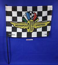 Indianapolis Motor Speedway Collector Checkered Stick Flag Black Brickyard 400