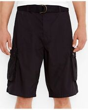 NEW Levi's Cargo I Shorts w/ Belt Black Men's 30 Relaxed Fit 135810010 NWT $56