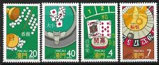 STAMPS-MACAO. 1987. Casino Games Set. SG: 652/55. Mint Never Hinged.