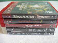 PS3 Video Game Lot for Playstation 3 Console Resident Evil Mortal Kombat 5 Games