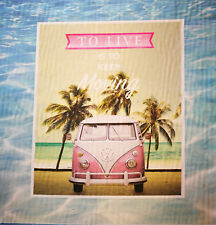 VW Bus Bulli T1 45 x 45 cm 100% Baumwolle TO LIVE IS TO KEEP MORNING