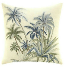 "Tommy Bahama Serenity Palms Cotton Throw Pillow 14x14"" Beach Summer Palm Trees"