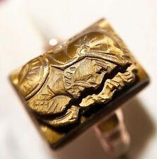 MANS 10k GOLD CAMEO TYPE RING