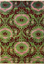 Rugstc 4x6 Senneh Chobi Ziegler Green Area Rug,Natural dye, Hand-Knotted,Wool