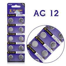 Confezione 10 Batteria Pila AG12 386A Bottone Tonda Alcalina 1.55V hsb
