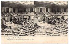 CPA stéréoscopique - ETATS UNIS - 4. WASHINGTON. Le Capitole. La Salle des Repré