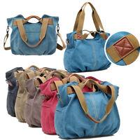 Women Canvas Hobo Messenger Shoulder Bags Cross Body Satchel Handbags Size L New