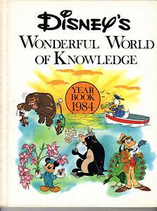 Lot 3 Disney's Wonderful World of Knowledge Yearbooks Grolier 1984 1985 1986 A+