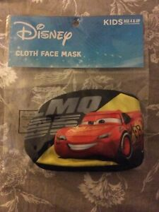 Disney Cars Cars Lighting McQueen Face Mask Kids Ages 4+ Back To School