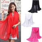 Fashion Women Long Soft Wrap Lady Shawl Chiffon Silk Scarf Scarves Casual Beach