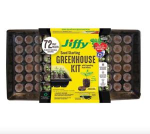 Jiffy Peat Pellets 36mm Seed Starting Greenhouse Kit, 72 Peat Pellets