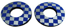 ProBMX Flite Style Old School BMX Grip Donuts - Pairs - Blue & Silver