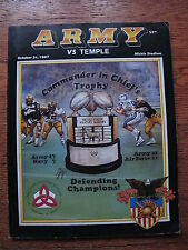 1987 Army Football West Point Military Academy Temple College Program NCAA