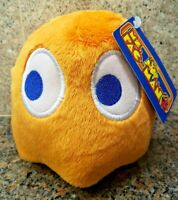 NEW Ms. Pac-Man Orange Ghost Clyde Plush Toy Stuffed Doll Figure Pacman Arcade