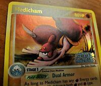 Pokemon Medicham 25/100 Ex Crystal Guardians Rare Reverse Holo Card, Mint