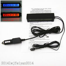 3 in1 Car LCD Digital Clock Time Thermometer Temperature Voltage Meter Monitor