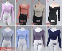 1/6 women Sweater Wide Collar Pullover Clothes For 12'' Female PH TBL Figure