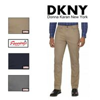 NEW! DKNY Men's Brushed Twill Pant Bedford Slim Straight VARIETY SIZE/COLOR- B31