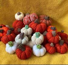 Handmade Pumpkins For Halloween Thanksgiving in Autumn Colours Alpaca Wool Blend