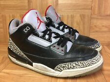 RARE🔥 Nike Air Jordan 3 III CDP 2008 Black Cement Gray Red Sz 13 340254-061