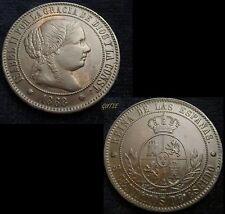 *GUTSE*91-ISABEL II, 5 CÉNTIMOS DE ESCUDO 1868, BARCELONA OM, VTE. EBC