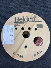 New Belden 83702 Red Cable 2 Conductor 16 Awg 100 Ft 304 Mtr Wire