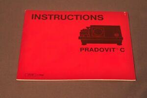 Leica, Leitz Pradovit C Owner's Manual, Original, Not a Copy! c1981