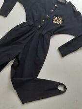 80s Black Stretch Jumpsuit