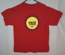 Vtg 90s LEVIS 501 RED TAB jeans t shirt mens made in USA denim Sz L fly tee