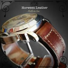 Müller&Son Genuine Horween Leather 24 mm Brown Watch Strap Handmade for Panerai