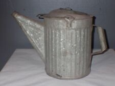 Vintage Galvanized Watering Can Ribbed Sides