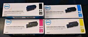 Dell 810WH C5GC3 XMX5D WM2JC Black Cyan Magenta Yellow Toner Cartridge Genuine .