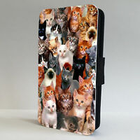 Beautiful  Cat  Kitten Collage FLIP PHONE CASE COVER fits all IPHONE & SAMSUNG