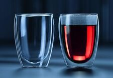 Genuine Set of 2 BODUM Pavina 350ml Double Wall Thermo Glasses Set