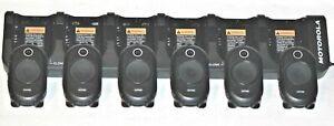 6 Motorola CLP1040 UHF Portable 2-Way Radios Very Good Condition