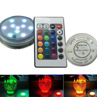 Waterproof Submersible Super Bright Party Vase LED Lights with Remote Controller