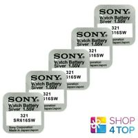 5 SONY 321 SR616SW BATTERIES SILVER OXIDE 1.55V WATCH BATTERY EXP 2021 NEW
