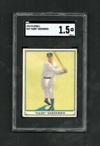 1941 Play Ball HANK GREENBERG #18 ~~ graded SGC 1.5 ~~ Beautiful Card ~ LOOK!