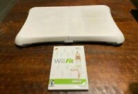 Nintendo Wii Fit Balance Board + Wii Fit Game Fast Shipping!