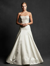 AUTHENTIC Isabelle Armstrong Constance Wedding Dress Silk Aline Strapless 8