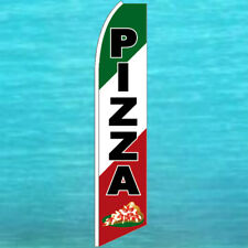 PIZZA FLUTTER FLAG Tall Curved Top Food Advertising Sign Feather Swooper Banner