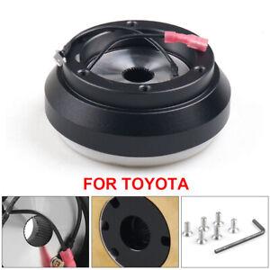 Black 6 Hole Steering Wheel Hub Adapter Boss Kit for Toyota Camry Corolla Celica