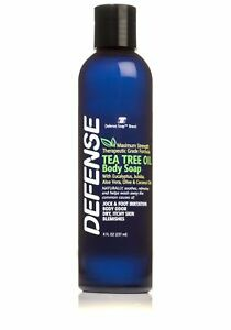 DEFENSE SOAP Shower Gel 8 Fl Oz Natural Body Wash Tea Tree Oil and Eucalyptus