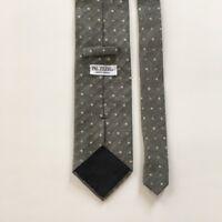 Pal zileri tie gray  made in Italy 70% cashmere 30% silk necktie pa0060